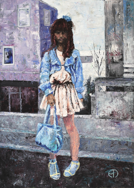 Girl on Lilac street